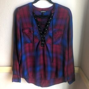 Express Lace Up Flannel